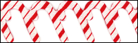 Candy Cane Trim by May Arts - # EX-75 THUMBNAIL