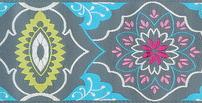 Gray Brocade Woven Trim - # AB-2 col. 3 MAIN
