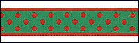 Renaissance Ribbons #5-114 col. 5 Red and Green Reversible THUMBNAIL