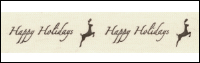 "Twill Tape Trim by May Arts - # 413-34-8 – ""Happy Holidays"" THUMBNAIL"