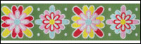 Holiday Print on Green Woven Trim - # DN-09 col. 2 THUMBNAIL