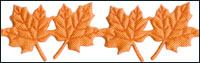 Orange Maple Leaves Trim by May Arts - # EX-98 THUMBNAIL