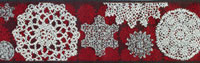 Renaissance Ribbons #LFNT-116 col. Lacy 2 red – Red with Snowflakes THUMBNAIL