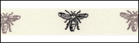 Twill Tape Trim by May Arts - # 413-34-1 – Bees THUMBNAIL