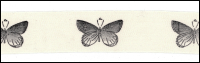 Twill Tape Trim by May Arts - # 413-34-13 – Butterflies THUMBNAIL