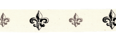 Twill Tape Trim by May Arts - # 413-34-5 – Fleur de Lis MAIN
