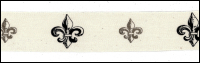 Twill Tape Trim by May Arts - # 413-34-5 – Fleur de Lis THUMBNAIL