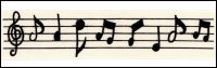 Twill Tape Trim by May Arts - # 413-34-6 – Music Notes THUMBNAIL