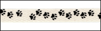 Twill Tape Trim by May Arts - # XT-5 – Black Paw Prints THUMBNAIL