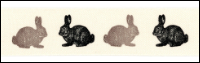 Twill Tape Trim by May Arts - # 413-34-27 – Rabbits THUMBNAIL