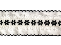 Vintage Trim – White with Black Embroidery – 2 Yards THUMBNAIL