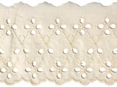 Vintage Eyelet Trim – Cream – 6 Yards MAIN