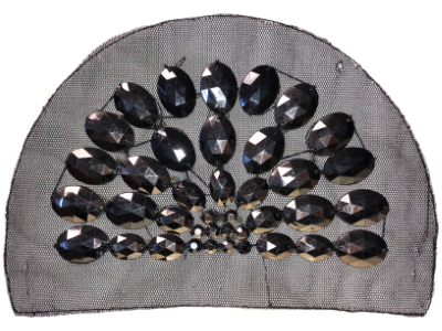 Vintage Appliqué – Black Dome-shaped MAIN
