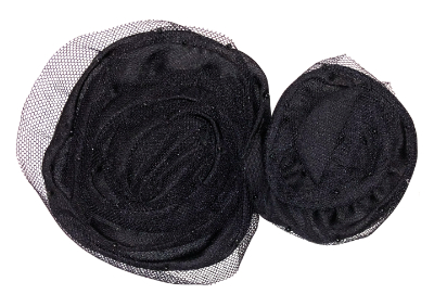 Vintage Appliqué – Black Net Roses MAIN