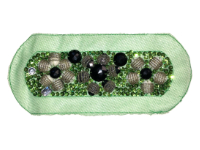 Vintage Appliqué – Green, Black, Silver and White Embellishments on Green THUMBNAIL