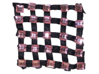 Vintage Appliqué – Black Ribbons with Pink Square Rhinestones THUMBNAIL