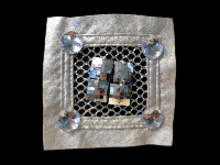 Vintage Appliqué – Silver Square with Silver Embellishments THUMBNAIL