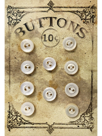 "VINTAGE Pearlescent Round Buttons (10) on ""BUTTONS"" Card THUMBNAIL"
