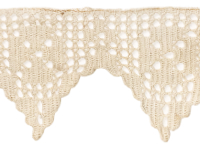 Vintage Crocheted Trim – Beige – 3 Pieces THUMBNAIL