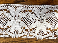 "Vintage Lace B - Daisy design 3"" wide, Soft white -  Priced per yard THUMBNAIL"