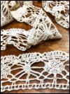 Vintage Crocheted Trim – Cream – 2 3/4 Yard SWATCH