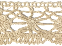 Vintage Crocheted Trim – Cream – 2 3/4 Yard THUMBNAIL