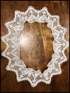 "Vintage Hand Crocheted Trim – Cream – 38"" Round SWATCH"
