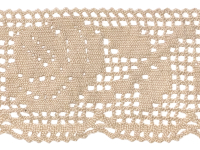 Vintage Crocheted Trim – Beige – 4 2/3 Yard THUMBNAIL