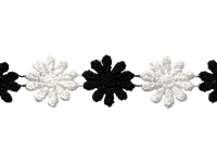 Vintage Flower Trim – Black and White THUMBNAIL
