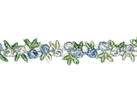 Vintage Flower Trim – Blue, White and Green THUMBNAIL