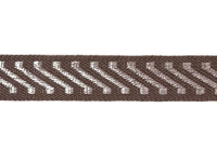 Vintage Trim – Brown with Silver Diagonal Stripes THUMBNAIL