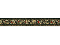 Vintage Trim – Dark Brown with Gold Embroidered Flowers THUMBNAIL