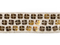 Vintage Sequin Trim – Gold THUMBNAIL