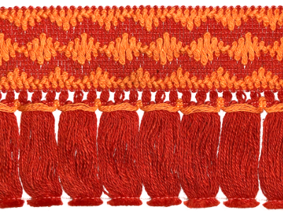 Vintage Fringe Trim – Red and Orange – 10 Yards MAIN