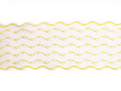 Vintage Scalloped Lace Trim – Yellow MAIN