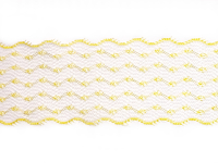 Vintage Scalloped Lace Trim – Yellow THUMBNAIL