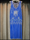 Royal Blue Flapper Beaded Dress by Megere   (#14) SWATCH