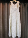 Cream-Colored Vintage Dress by Mike Benet Formals    (#1) SWATCH
