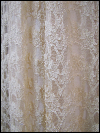 1940s Cream-Colored Vintage Lace Dress with Slip  (#8) SWATCH