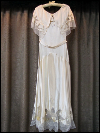 Cream-Colored Vintage 1930s Dress with Belt & Headband (#9) SWATCH
