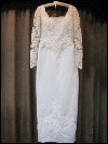 White and Cream-Colored Wedding Dress by PC Mary's   (#10) SWATCH