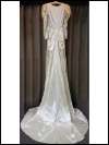 Cream-Colored 1940s Vintage Wedding Dress with Long Train by The Debutante (#5) SWATCH
