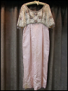 Pink and Cream-Colored Vintage 1960s Beaded Dress     (#7) SWATCH