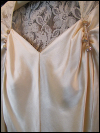 Cream-Colored Vintage 1930s/40s Wedding Gown with Lace Back  (#12) SWATCH