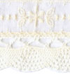 Cream Eyelet with Fine Crocheted Edge - # S03360D col. 051 SWATCH