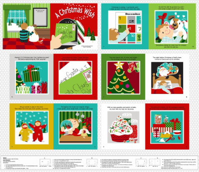 "Studio E ""A Christmas Wish"" # 3721P-88 – Christmas Book Panel MAIN"