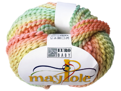 "Euro Baby ""Maypole"" Yarn - Peach, Yellow, Mint MAIN"