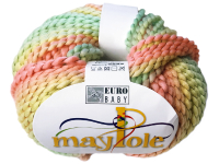 "Euro Baby ""Maypole"" Yarn - Peach, Yellow, Mint THUMBNAIL"