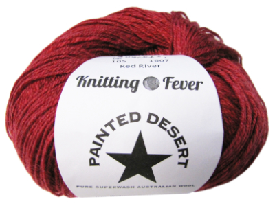 "Knitting Fever ""Painted Desert"" Yarn - color: 105 - Red River MAIN"