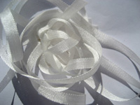 YLI Silk Ribbon, 7mm — 001 (natural white) THUMBNAIL